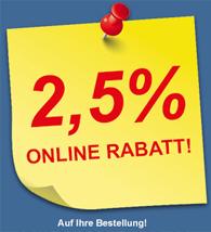 2,5 Prozent Online Rabatt